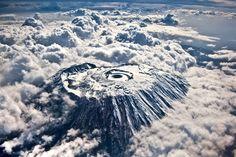キリマンジャロの航空写真
