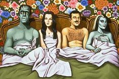 The Addams Family 1964 Fan Art: The Addams Family and The Munsters Horror Art, Horror Movies, Funny Horror, The Addams Family 1964, Adams Family, Los Addams, Rockabilly, Gomez And Morticia, The Munsters