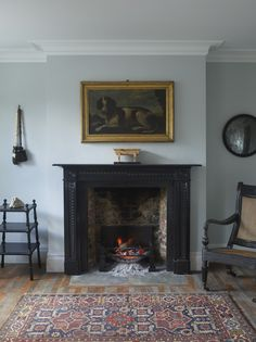 Jamb, UK Traditionally black marble was used in design from the seventeenth century. Steeped in tradition but perfect for any historic or contemporary interior. We have a large collection of our own black marble that we use in our bespoke and reproduction Fireplace Tile Surround, Marble Fireplaces, Fireplace Surrounds, Fireplace Design, Fire Surround, Indoor Fireplaces, Fireplace Drawing, Fireplace Candles, Fireplace Ideas