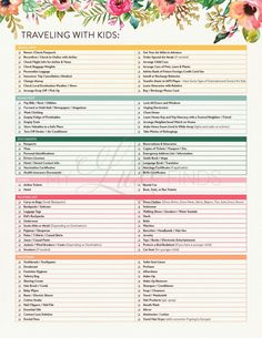 Baby Travel Checklist Free Printable For What To Pack For Babies