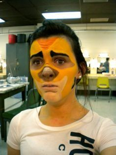 Lion King Experience, Face Paintings, Timon Facepaint, Makeup Face, Nu'Est Jr, King Jr, King Makeup, Aladdin Jr