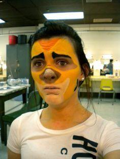 Lion King Experience, Face Paintings, Timon Facepaint, Makeup Face, Nu'Est Jr, King Jr, King Makeup, Aladdin Jr