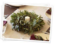 Pretty olive branch wreath