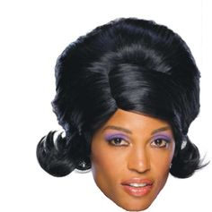 Wig - Dream Glam - Black 60's Girl Group Diana Ross Supremes Motown Flip Style