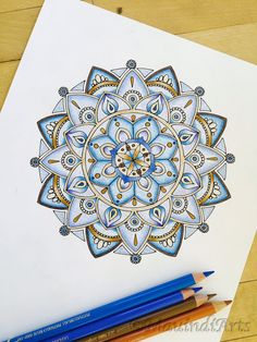 Mandala Harmony Hand Drawn Adult Coloring Page by MauindiArts