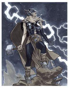 Mahmud Asrar - Thor (Awesome Art Picks: Marty McFly, Thor, Supergirl, and More - Comic Vine) Marvel Dc, Marvel Comics, Marvel Comic Universe, Comics Universe, Marvel Heroes, Marvel Characters, Comic Book Artists, Comic Artist, Comic Books Art