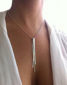 Silber Halskette Anweisung zarte Anhänger Halskette