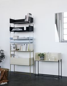 Vivlio is a flexible shelving system by Skagerak. It can be used as a sideboard, lowboard or modular shelving system. Furniture, Interior Trend, Shelf System, Shelves, Interior, Shelving Unit, Metal Shelves, Airy Room, Shelving
