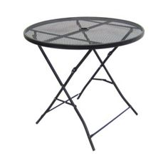 Treshold Steel Folding Patio Table 32