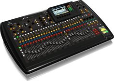 40-input, 25-total-bus Digital Mixer with 32 Gain-Programmable Mic Preamps, 25 Motorized Faders, Virtual FX Rack, and 7' Color TFT