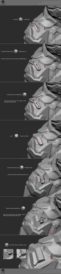 Intro To Hard Surface Sculpting in Zbrush by macchiarto