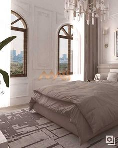 Katar Konut Dekorasyonu⁠ ⁠ Showroom / Istanbul / Modoko⁠ You can find Modern bedroom and more on our website. Modern Bedroom, Showroom, Istanbul, Comforters, Modern Design, Indoor, Blanket, Website, Content