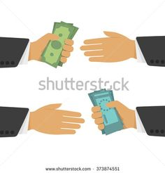 Currency exchange, money exchange. Stock Exchange in a flat style. Foreign…