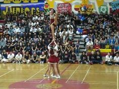 cheer stunt group routine - YouTube :47 seconds