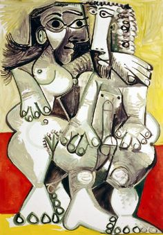 Pablo Picasso - Naked man and woman, 1968 Pablo Picasso Quotes, Pablo Picasso Drawings, Art Picasso, Picasso Paintings, Cubist Movement, Spanish Art, Georges Braque, Art Moderne, Henri Matisse