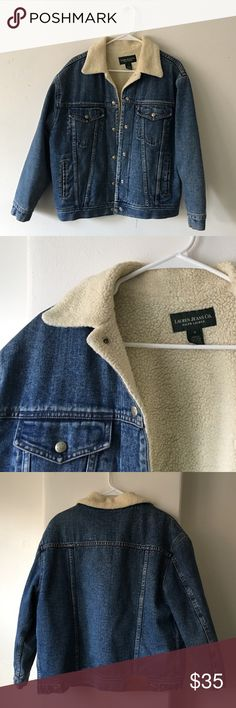 Ralph Lauren Denim Jacket barely used and in great shape, Ralph Lauren denim jacket with white sherpa lining. tag says small, but I am a large (and 6') and it fits me. will probably fit women's small and medium best though. didn't get at urban outfitters. Urban Outfitters Jackets & Coats Jean Jackets