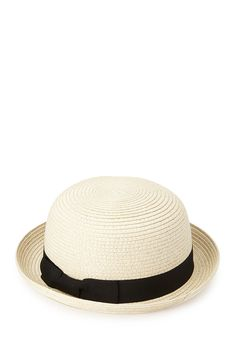 Downtown Straw Bowler | FOREVER21 #Accessories #Hat #TrendingNow