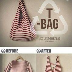 Un tee-shirt transformé en tote bag