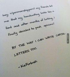 30個讓大家都「超想再投胎重新開始認真練字」的神級手寫字! - boMb01