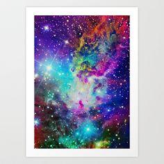 Fox Fur Nebula Art Print by Starstuff - $15.00