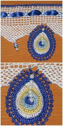 Nazar boncuklu havlu kenarı örneği http://www.canimanne.com/nazar-boncuklu-havlu-kenari-ornegi.html