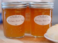 Bourbon Peach Jam - I don't do Jams, so I am using this as the inspiration for a Bourbon Peach Drink - Bourbon, Peach Vodka, dash of vanilla and I'm thinking club soda or 7-up/water to avoid being too sweet