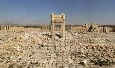 Barbaric onslaught … the destroyed Temple of Bel in Palmyra, Syria.Sometimes ruins are better left as ruins.