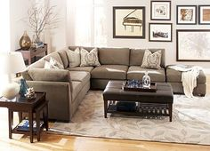 #HavertysRefresh....I have this sectional, but need to update the throw pillows....and maybe add an area rug?