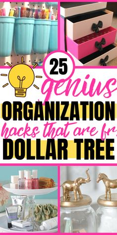 Want dollar store organization hacks to reduce clutter in your bedroom, kitchen . - Want dollar store organization hacks to reduce clutter in your bedroom, kitchen and small spaces? Organisation Hacks, Organizing Hacks, Kitchen Organization, Hacks Diy, Closet Organization, Diy Storage Hacks, Organization Quotes, Classroom Organization, Dollar Store Hacks