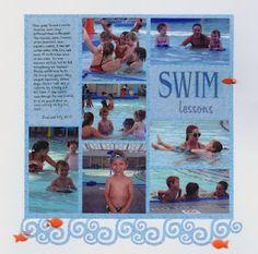 Scrapbook page: Beach, Pool, Water