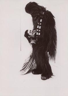 Leia & Chewbacca #starwars #leia #chewbacca