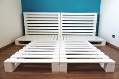 Pallet Bed Frame with Headboard