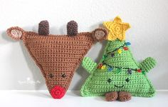 Make a cute reindeer plushy to match your cuddly Christmas tree! Get the free crochet pattern by Repeat Crafter Me​ and make it with Vanna's Choice and a size G crochet hook.