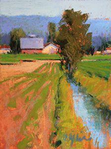 Farm Life by Susan Ogilvie Pastel ~ 8 x 6