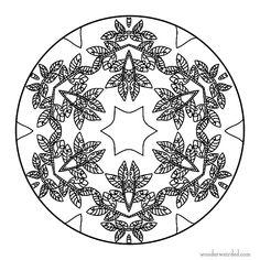 Mandala Coloring Sheets Leaf, Free Printable Mandala Coloring Pages with Leaf Designs, Wonderweirded Mandalas to Print, Mandala zum Asudrucken, Print, Paint , Color, Mandala Tattoo Design Inspiration