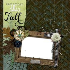 Copper Blossom Paperie: Free Autumn Digital Scrapbook Quick Page