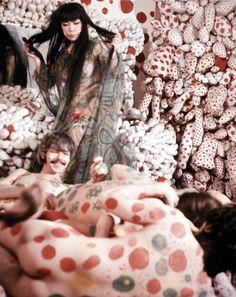 """Yayoi Kusama. """"Homosexual Happening at Kusama Studio."""" New York, 1968."""