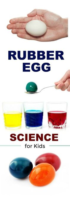 AWESOME KID SCIENCE: MAKE RAINBOW RUBBER EGGS #scienceforkids #experimentsforkids