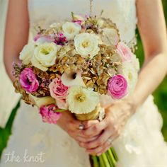 hydrangeas, roses and calla lilies