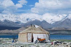 Yurt along the Silk Road, China