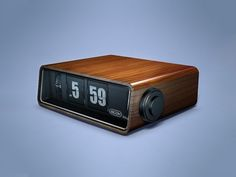 utterly modern when I got married - a 'flip' digital clock - even came with a radio!