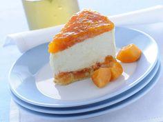 Cheesecake con savoiardi, ricotta e gelée di albicocche