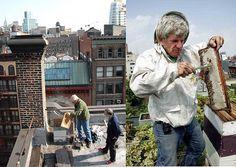 Rooftop Beekeeper in New York City