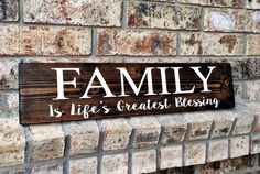 Family Sign   Family Signs   Blessings Signs   Wood Sign   Rustic Signs   Wedding Gifts   Rustic Wood Signs   Gifts   Gallery Wall Signs by TheWoodGrainHome on Etsy https://www.etsy.com/listing/274999764/family-sign-family-signs-blessings-signs