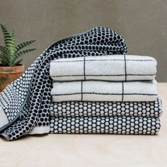 4-Pc. Grid Towel Set by Mette Ditmer designed in Denmark #MONOQI