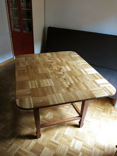 Upcycled Parquet Floor Coffee Table Pinterest Ranch Decor Tables And Furniture