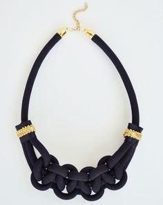 Black Macrame Necklace