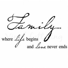 where life begins and love never ends...