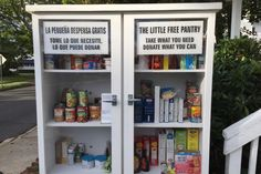 A Little Free Pantry in Manasquan, NJ at the First Baptist Church of Manasquan.