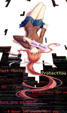 Monika (Doki Doki Literature Club!) (1800x3000 4,108 kB.)